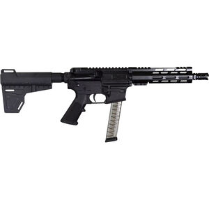 "I.O. Inc. M215-9mm KM-7 9mm Luger AR-15 Semi Auto Pistol 7.5"" Barrel 30 Rounds Uses GLOCK Style Magazines M-LOK Handguard KAK Pistol Brace Black"