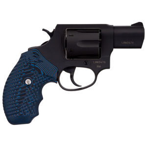 "Taurus 856 .38 Special +P Single/Double Action Revolver 2"" Barrel 6 Rounds Blue Cyclone Grips Matte Black Finish"