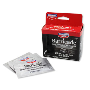 Birchwood Casey Barricade Take Along Gun Cloths Rust Protection 25 Pack 33025