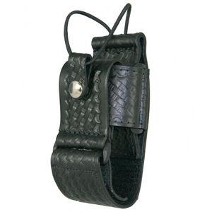 Boston Leather Adjustable Radio Holder Black Hardware Basket Weave Black