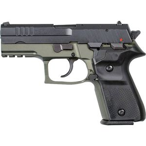 "FIME Group Rex Zero 1CP 9mm Luger Compact Semi Auto Pistol 3.85"" Barrel 15 Rounds Metal Frame Two Tone OD Green/Black Finish"