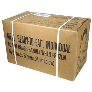 "U.S. Original Military Case ""A"" MRE with Menus  #1-12 2016 Production Date, 2019 Inspection Date NSN 8970-00-149-1094"