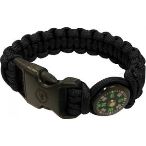 "Ultimate Survival Technologies Survival Bracelet 8"" with Compass Black and Glow 20-295-345-E5"