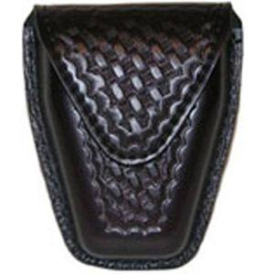 Safariland Model 190 Handcuff Pouch Hinged Cuffs Top Flap Hidden Snap SafariLaminate Basket Black 190H-4HS