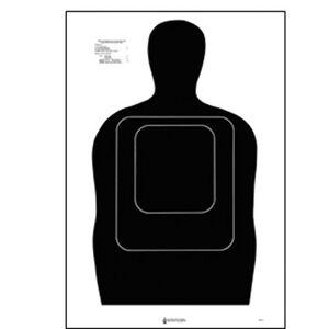 "Action Target TQ-15 Qualification Target 24""x45"" Paper Target Black 100 Pack"
