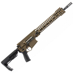 "POF Revolution AR Style Semi Auto Rifle .308 Winchester 16.5"" Match Grade Barrel 20 Rounds 14.5"" M-LOK Free Float Hand Guard MFT Pistol Grip/Stock Cerakote Burnt Bronze Finish"