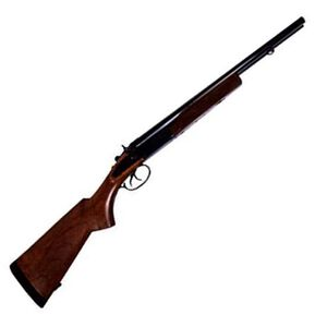 "Century International Arms Side By Side Shotgun 20 Gauge 20"" Barrels 2 Rounds 3"" Chamber Wood Stock Blued SG1077N"