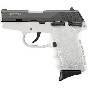 """SCCY Industries CPX-1 9mm Luger Semi Auto Pistol 10 Rounds 3.1"""" Barrel White Polymer Frame with Black Nitride Finish"""