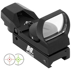 NcSTAR Red and Green Four Reticle Reflex Optic Dot/Bullseye/Cross/Starburst Illuminated 3 MOA Dot Aluminum Black Anodized