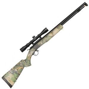 "CVA Wolf Break Action .50 Caliber Black Powder Rifle 24"" Barrel Dead On Scope Mount Xtra Green Camouflage Synthetic Stock Black Nitride Finish"