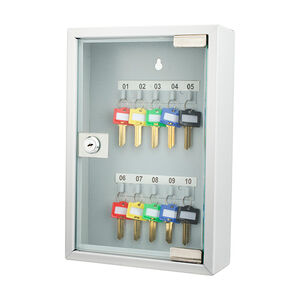Barska Optics 10 Key Lock Box with Glass Door Gray