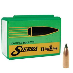 "Sierra 6mm .243"" Diameter 70 Grains BlitzKing Rifle Bullets 100 Count"