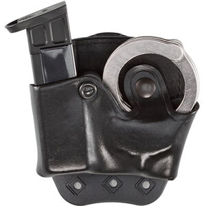 Aker Leather 519 DMS Combo Combination Magazine and Standard Handcuff Case Size 01 .45 ACP Magazine Right Hand Leather Plain Black A519BPRU-1