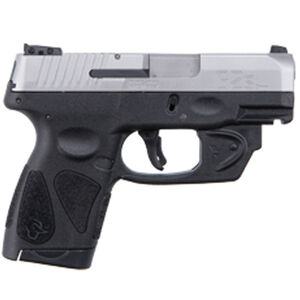 "Taurus G2S Slim 9mm Luger Semi Auto Pistol with Viridian Laser 3.2"" Barrel 7 Rounds Single Action with Restrike 3 Dot Sights Thumb Safety Polymer Frame Stainless Finish"