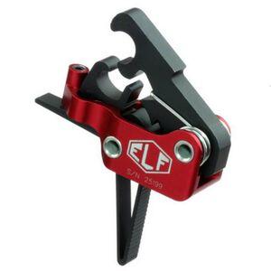 Elftmann Tactical AR-9/AR-45 Trigger Standard Small Pin Straight Trigger Shoe Adjustable Trigger Pull Red Hosing Black Trigger