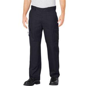 "Dickies Flex Comfort Waist EMT Pants Poly/Cotton Twill 40"" Waist 32"" Inseam Midnight Blue LP2377MD 4032"