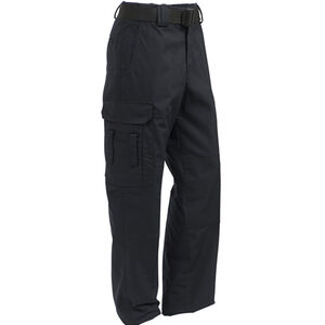 Elbeco ADU Ripstop EMT Men's Pants Size 32 Unhemmed Polyester Cotton Ripstop Midnight Navy