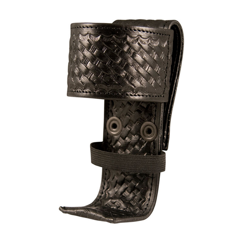 Boston Leather 5487 Deluxe Adjustable Radio Holder Leather Basket Weave Black 5487-3