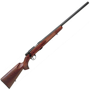 "Anschutz 1710 D HB Bolt Action Rifle .22 LR 23"" Heavy Barrel 5 Rounds Single Stage Trigger Classic Walnut Stock Satin Finish Blued Metal Finish 2202095"