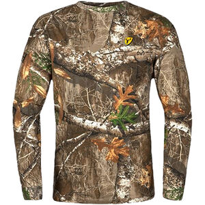 Scent Blocker Men's Fused Cotton L/S Top Long Sleeve T-Shirt 2X-Large Cotton/Polyester Realtree Edge Camo