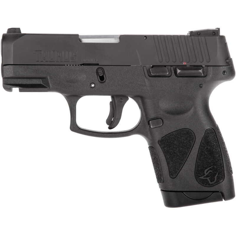 """Taurus G2S Slim 9mm Luger Semi Auto Pistol 3.2"""" Barrel 7 Rounds Single Action with Restrike 3 Dot Sights Thumb Safety Polymer Frame Black Finish"""
