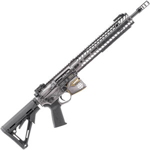 "Spikes Rare Breed Crusader 5.56 NATO AR-15 Semi Auto Rifle 16"" Barrel Crusader Helmet Billet Lower 12"" M-LOK Handguard Collapsible Stock Custom Distressed Cerakote Finish"