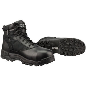 "Original S.W.A.T. Classic 6"" WP SZ Safety Men's Boot Size 8.5 Regular Composite Safety Toe ASTM Tested Non-Marking Sole Leather/Nylon Black 116101-85"