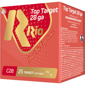 "RIO Ammunition Top Target 28 Gauge Ammunition 250 Rounds 2-3/4"" Shell #9 Lead Shot 3/4oz 1300fps"