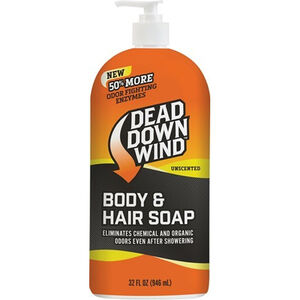 Dead Down Wind Hair & Body Soap Scent Elimination Body Wash Liquid 32 oz Pump Bottle