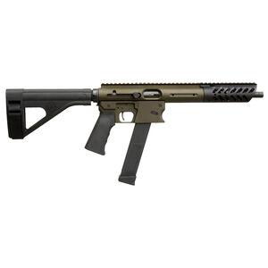 "TNW Aero Survival Pistol .45 ACP Semi Auto Pistol 10.25"" Barrel 26 Rounds GLOCK Style Magazine Free Float Hand Guard Pistol Stabilizing Brace Olive Drab Green"