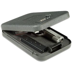 "GunVault NV300 NanoVault Handgun Safe 9.5""x6.5""x1.75"" with Cable Steel Black NV300"