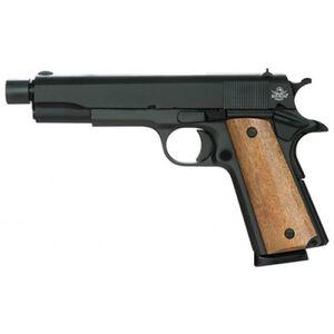"RIA GI 1911 Full-Size Semi-Auto .45 ACP Pistol, 5"" Barrel, 8 Rounds, Black/Wood"