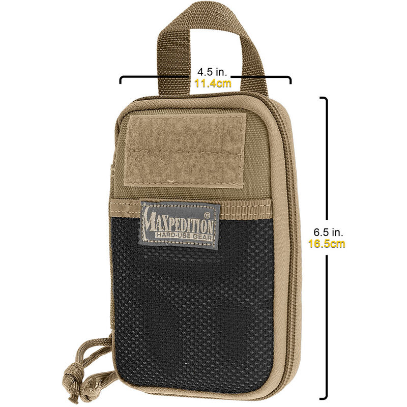 Maxpedition Mini Pocket Organizer 1050 Denier Water/Abrasion Resistant Light Weight Ballistic Nylon Fabric Matte Black