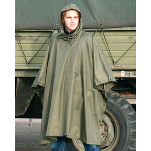 Mil-Tec Ripstop Wet Weather Poncho OD Green 10630001