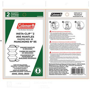 Coleman Mantle Tube Insta Clip Tab 2 Pack