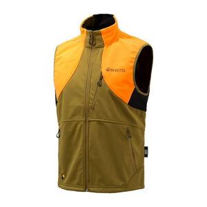 Beretta Men's Soft Shell Fleece Vest Sleeveless Size XX-Large Fleece Light Brown/Orange