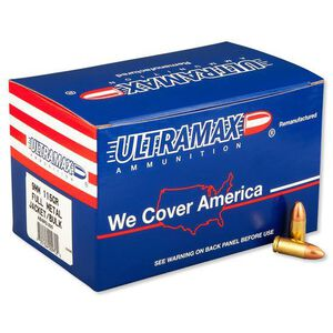 Ultramax 9mm Luger Ammunition 250 Rounds FMJ 115 Grains ABI9R2-250