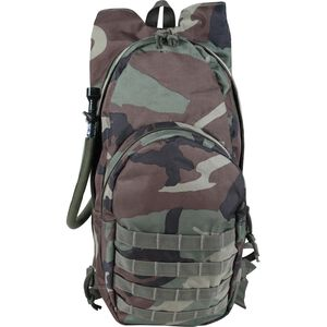 Voodoo Tactical MSP-3 7L Hydration Pack w/Universal Straps, Woodland Camo