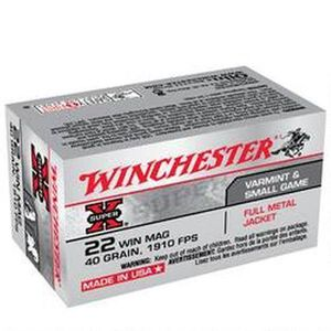Winchester Super X .22 WMR Ammunition 50 Rounds, FMJ, 40 Grains