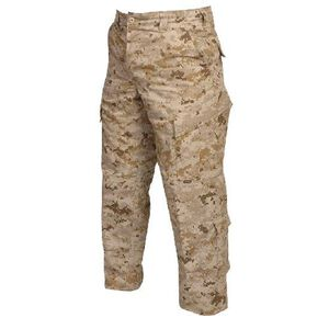 Tru-Spec Tactical Response Uniform Pants Men's Size X-Large Length Regular Polyester/Cotton Ripstop Desert Digital Camo 1293006
