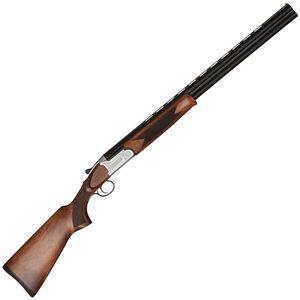"TR Silver Eagle C105LX O/U Break Action Double Barrel Shotgun 12 Gauge 28"" Barrels 3"" Chamber 2 Rounds Walnut Stock Satin Silver/Black Finish"