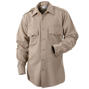Elbeco LA County Sheriff West Coast Class B Long Sleeve Shirt Women's Size 44 Polyester /Cotton Silver Tan