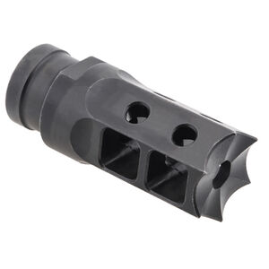 Next Level Armament NLX-7 AR-15 Compensator/Flash Suppressor Spiked Muzzle Device .22 Caliber Threaded 1/2x28 Matte Black