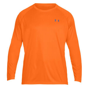 Under Armour Performance Men's Long Sleeve T Shirt Small Polyester Blaze Orange