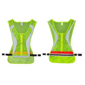 Nite-Ize Led Run Vest 2032x2 Batteries LED Lighting and Passive Reflectivity L/XL Yellow