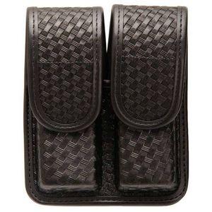 BLACKHAWK!  Double Magazine Pouch Double Stack .45 ACP Basket Weave Black