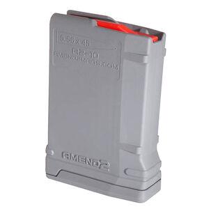 Amend2 Mod-2 AR-15 10 Round Magazine .223 Remington/5.56 NATO Anti-tilt Super Follower Stainless Steel Spring Polymer Gray