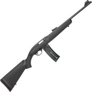 "Mossberg 702 Plinkster Semi Auto Rimfire Rifle .22 LR 18"" Barrel 25 Rounds FO Sights Synthetic Stock Black"