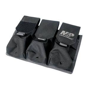 """Battenfeld Technologies Pro Tac 3 AR/AK Magazine Pouch with M&P Logo 11.125"""" x 7.75"""" x 3"""" MOLLE Compatible Black"""