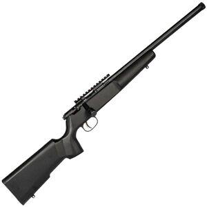 "Savage Rascal Target Bolt Action Rifle .22 LR 16.125"" Threaded Barrel 1 Round Scope Rail Black Wood Stock Blued Finish"